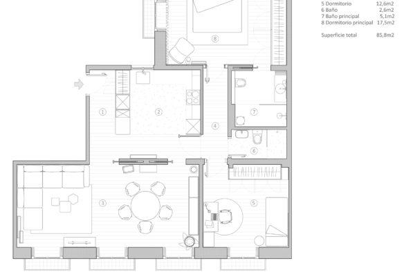 Plano Casa Malasaña